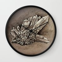 crystals Wall Clocks featuring Crystals by Werk of Art