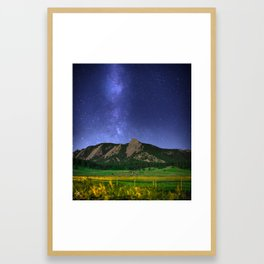 Milky Way in Boulder, Colorado Framed Art Print