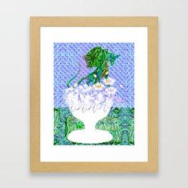 Tropical Dragon Garden  Framed Art Print
