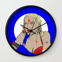Our Lady of Sex and Violence Wall Clock