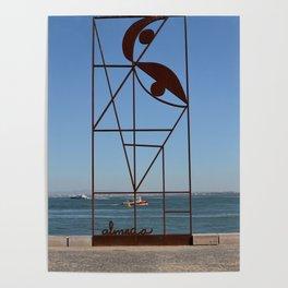 Iron scupture almada, Lisbon. Poster