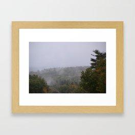 Mountian mist Framed Art Print