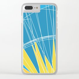 Abstract pattern, digital sunrise illustration Clear iPhone Case