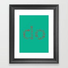 Talk VS Do Framed Art Print
