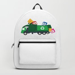 ABC Recycling Garbage Truck Backpack