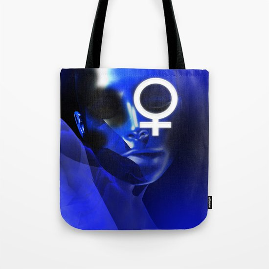 Face in Blue (no gender differences)  Tote Bag