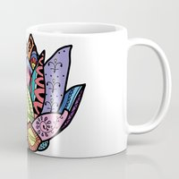 lotus flower Mugs featuring Lotus by Ilse S