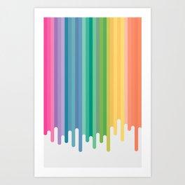 Colour Drip Art Print
