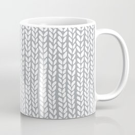 Knit Wave Grey Coffee Mug