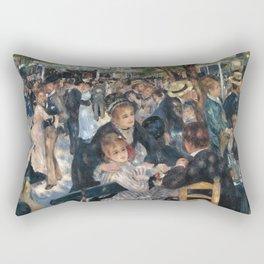 Bal du moulin de la Galette, Auguste Renoir, 1876 Rectangular Pillow