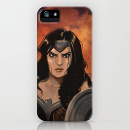 Night in the Flames iPhone Case