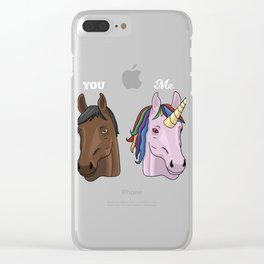 You and me Unicorn lover Tshirt for kids and women unicorns Clear iPhone Case