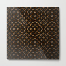 louisVuitton brown Metal Print