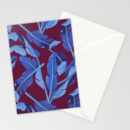 Tropical '17 - Blue Bird Of Paradise [Banana Leaves] Stationery Cards
