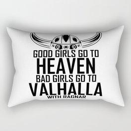 Good Girls Go To Heaven Bad To Valhalla Rectangular Pillow