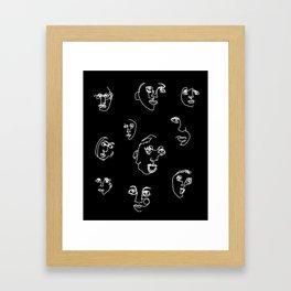 blind faces Framed Art Print