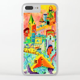 Invisible Cities-TAMARA【隐形的城市·插画】 Clear iPhone Case