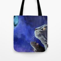 friendship Tote Bags featuring Friendship by Mihai Paraschiv