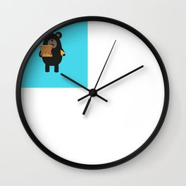 Black Bear with Wall Clock