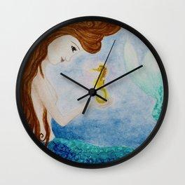 Mermaids Joy Wall Clock