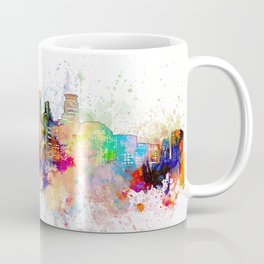 minneapolis skyline artistic Coffee Mug