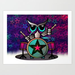 Owl Be A Rockstar Art Print