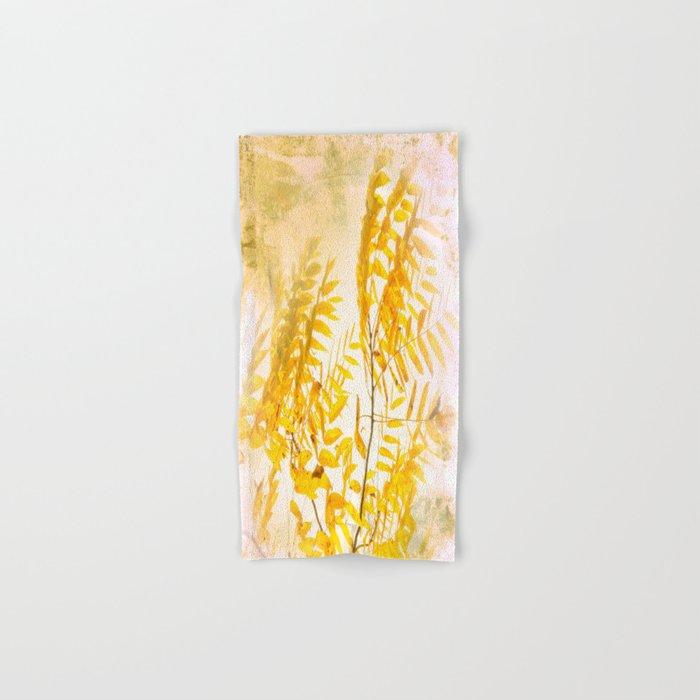 Yellow Branch Hand & Bath Towel