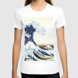 The Great Wave off KanagawA muted T-shirt