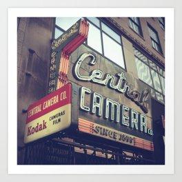 Central Camera Art Print