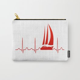 Sailing Heartbeat Carry-All Pouch