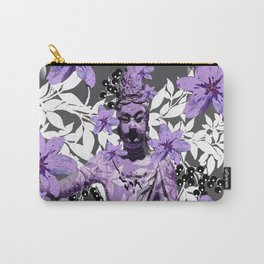 CHINA ANTIQUITIES YESTERDAY MEETS TODAY IN PURPLE AND WHITE Carry-All Pouch