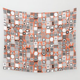 frisson memphis bw orange Wall Tapestry