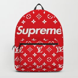 supreme x LV red Backpack