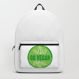 GO VEGAN, green circle Backpack