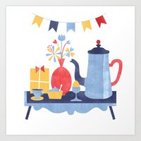 Breakfast in Bed Art Print