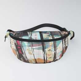 Musical Cassette Tapes Collage Fanny Pack
