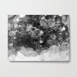 Amethyst Black and White Metal Print
