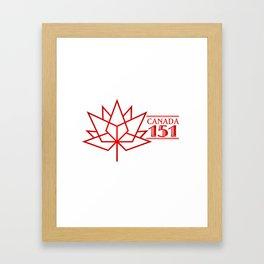 Happy Canada 1st July 151 Birthday Framed Art Print