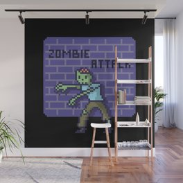 Zombie pixel Wall Mural