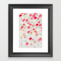 CUBE PINK Framed Art Print