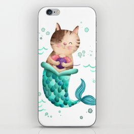 Purrmaid Illustration iPhone Skin