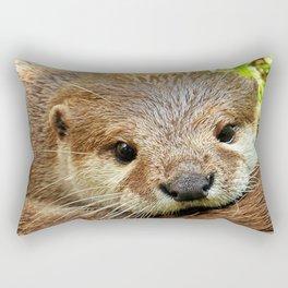 brown baby otter Rectangular Pillow