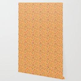 Modern geometrical colorful abstract polka dots Wallpaper