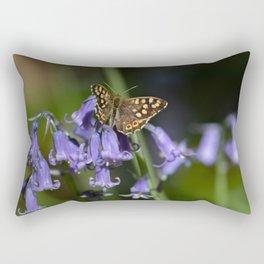 Butterfly on Bluebells Rectangular Pillow