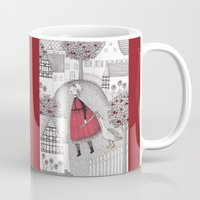 jazzberry Mugs featuring The Old Village by Judith Clay