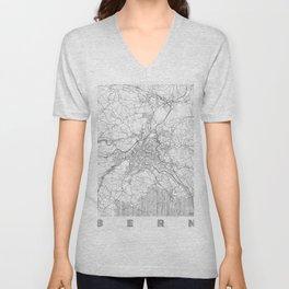 Bern Map Line Unisex V-Neck