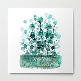 Floral Charm No.1K by Kathy Morton Stanion Metal Print