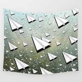 Paper Airplane 111 Wall Tapestry