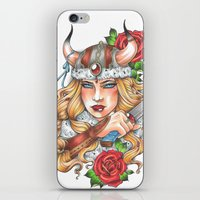viking iPhone & iPod Skins featuring Viking by Little Lost Forest