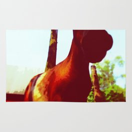 Horse at the Zoo Painting Rug